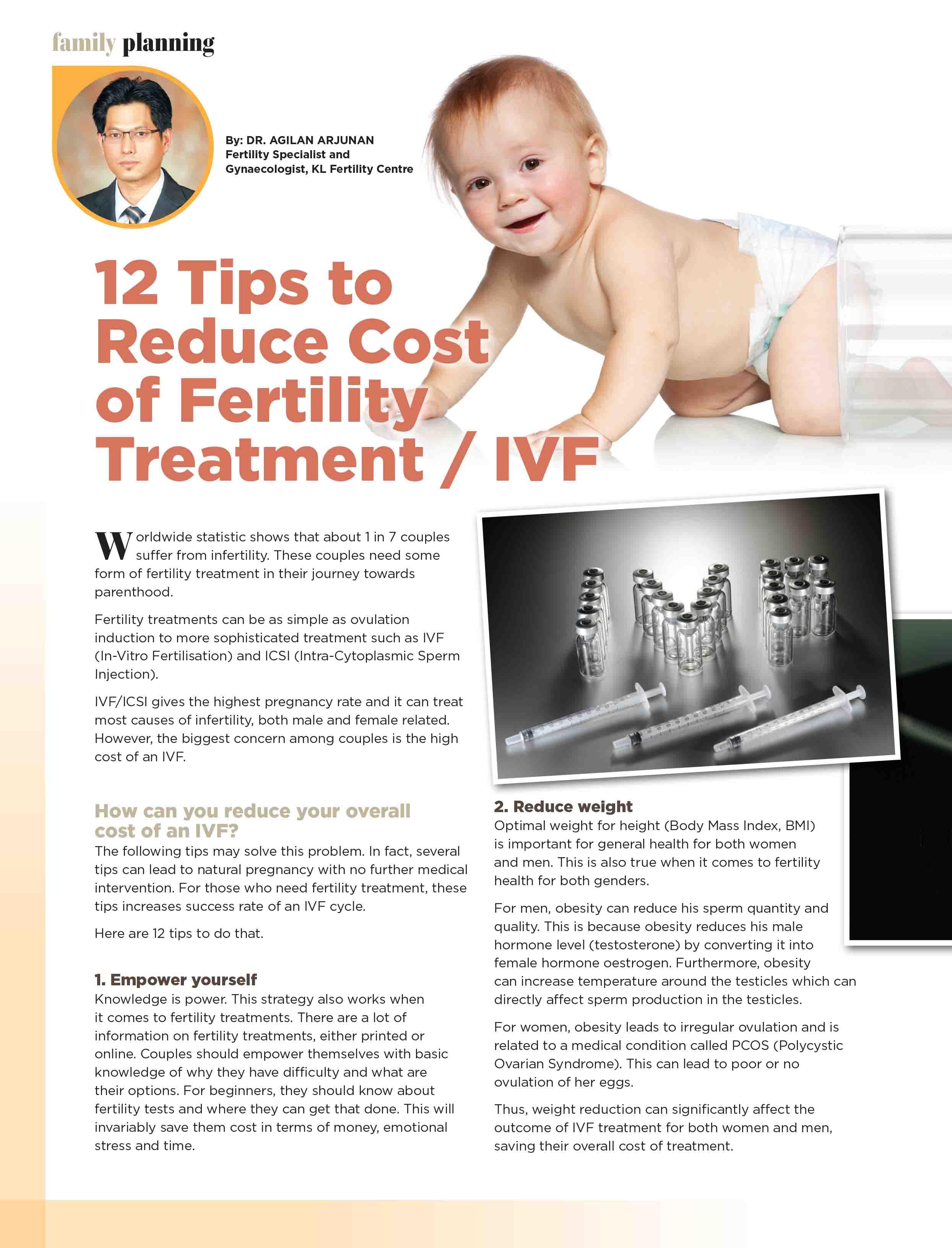 Reducing IVF Cost : Parenthood Magazine