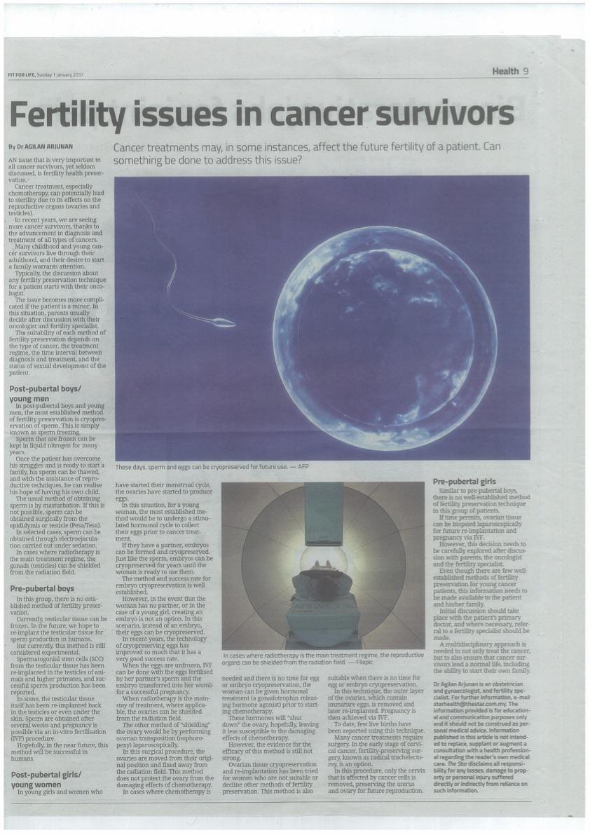 Fertility Preservation for Cancer Survivors